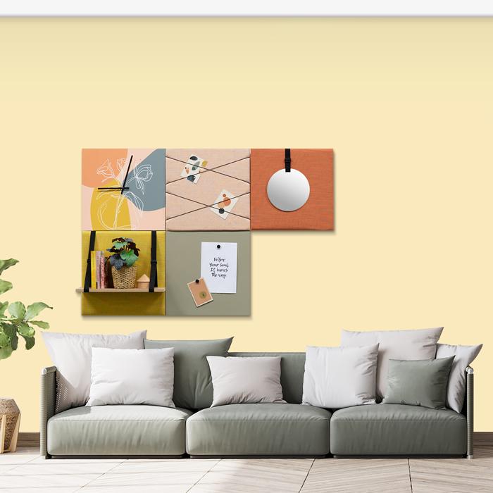 Kleurrijke wanddeco - set 5 panelen - combi 8