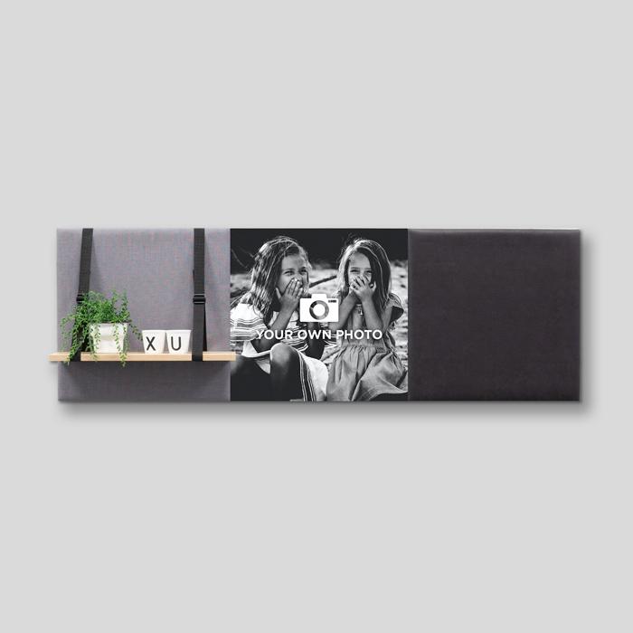 Grijze wanddeco - set 3 panelen - combi 9