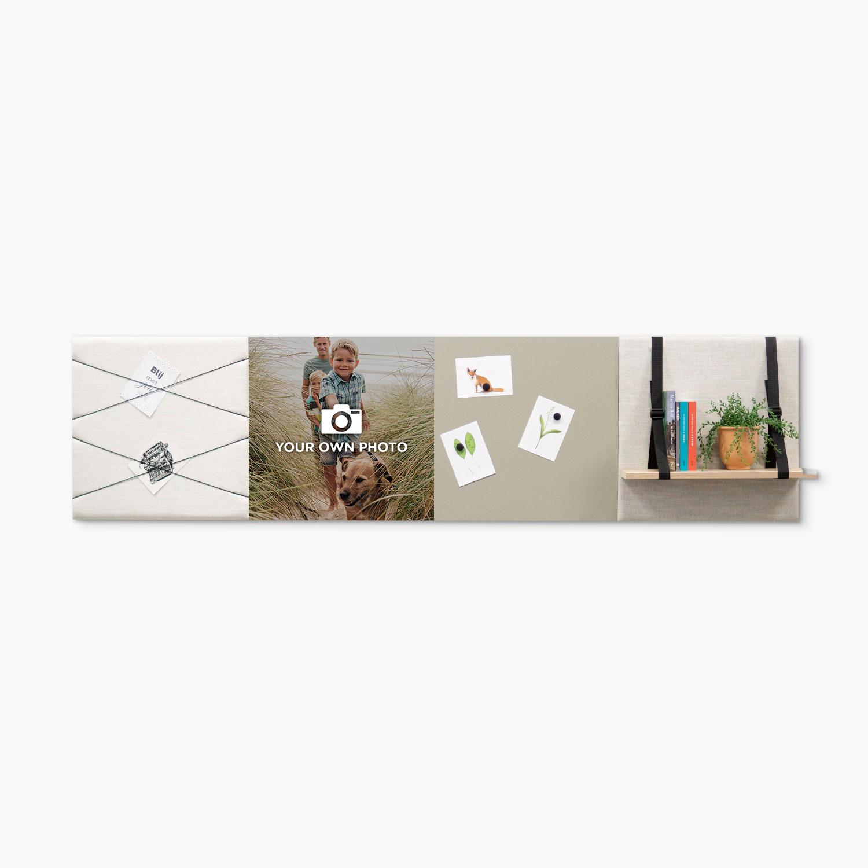 Beige (off white) wanddeco - set 4 panelen - combi 2