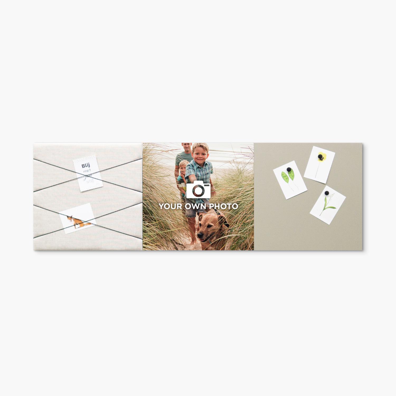 Beige (off white) wanddeco - set 3 panelen - combi 6