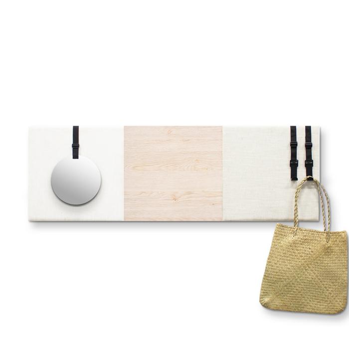 Beige (off white) wanddeco - set 3 panelen - combi 7