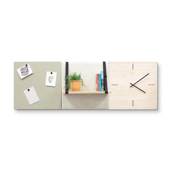 Beige (off white) wanddeco - set 3 panelen - combi 9