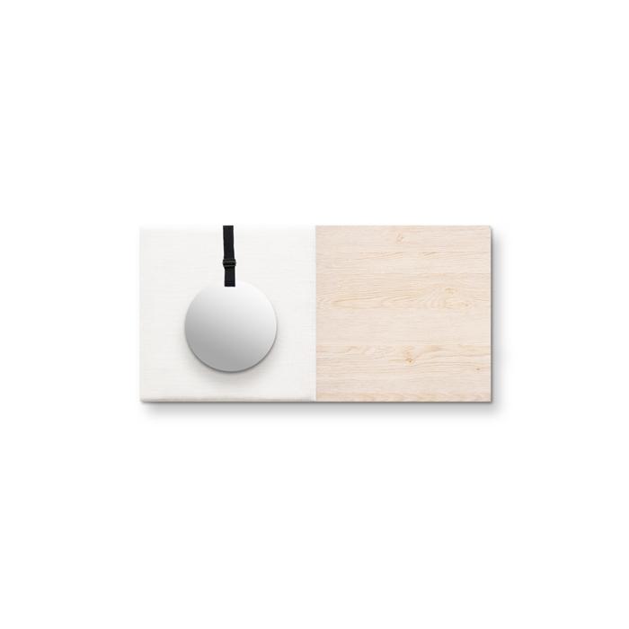 Beige (off white) wanddeco - set 2 panelen - combi 7