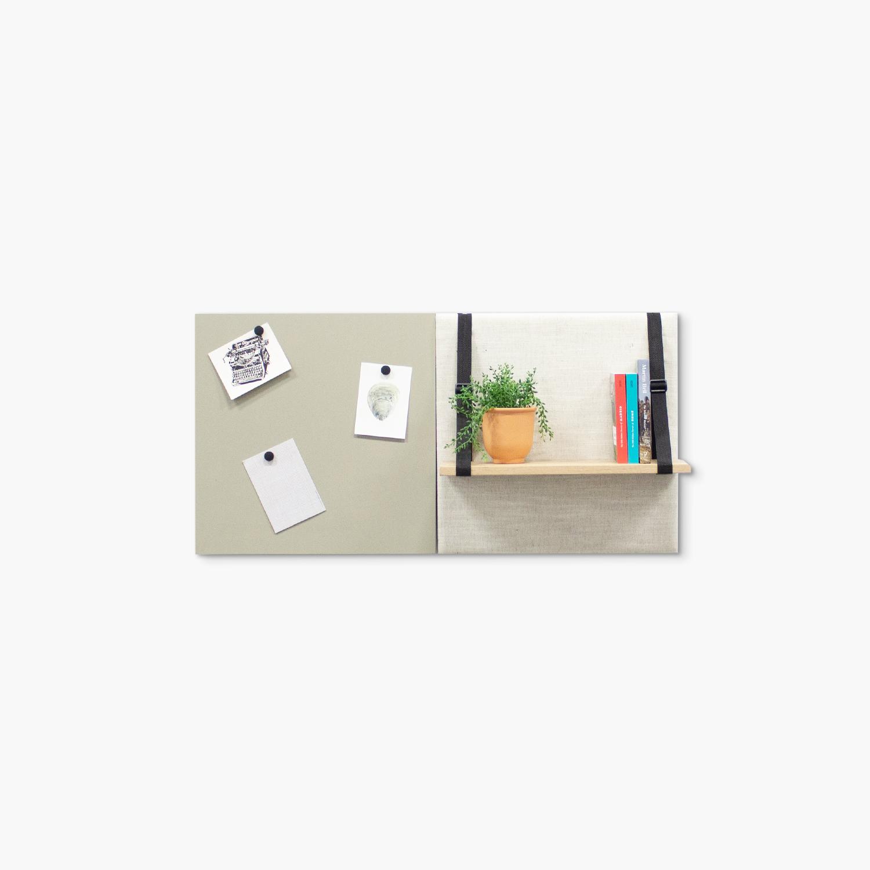 Beige (off white) wanddeco - set 2 panelen - combi 9