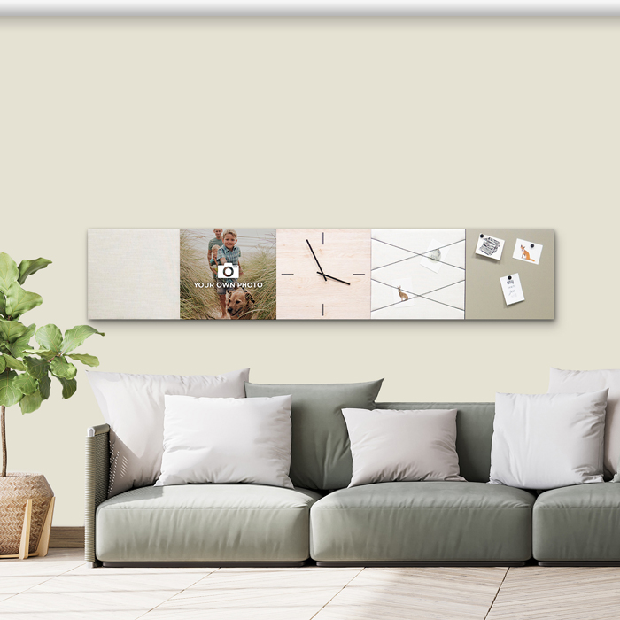Beige (off white) wanddeco - set 5 panelen - combi 6