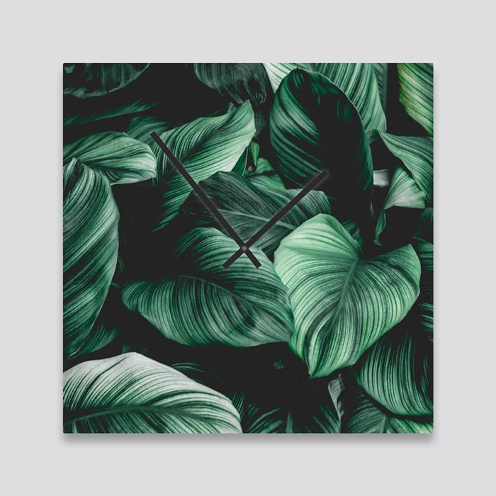 Groene wanddeco - set 3 panelen - combi 5