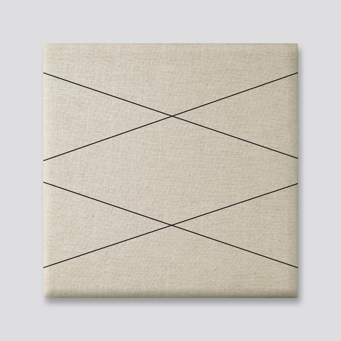 Beige (off white) wanddeco - set 5 panelen - combi 7