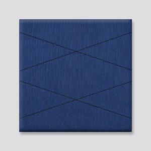 Blauwe wanddeco - set 2 panelen - combi 3