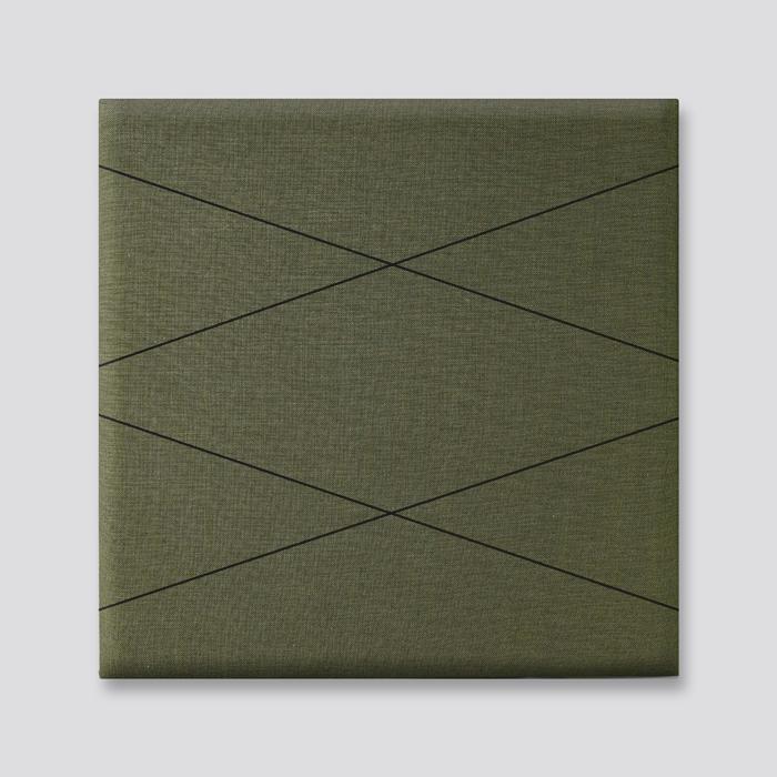 Groene wanddeco - set 5 panelen - combi 4