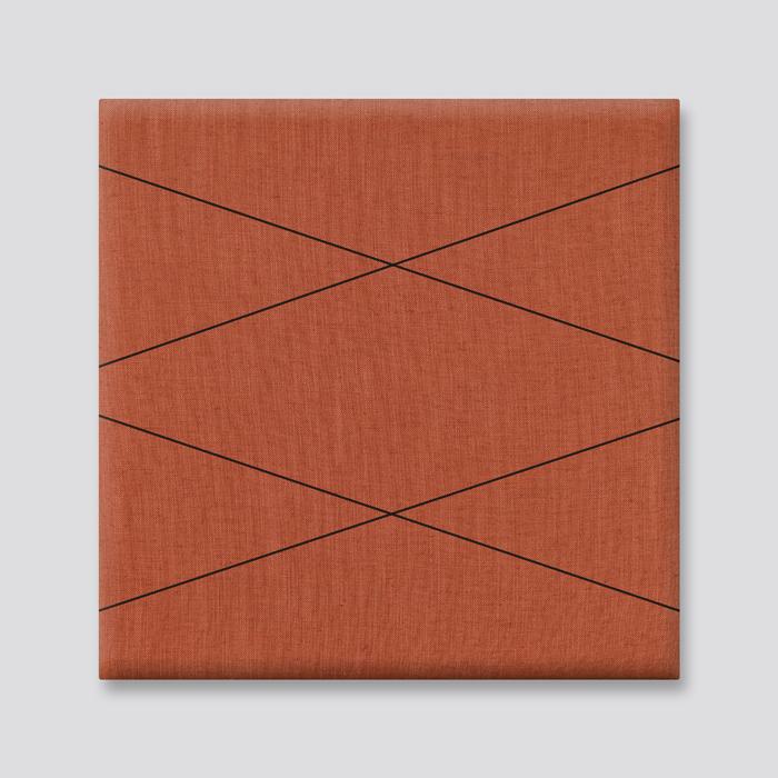 Orange Linen with Spider